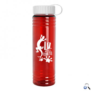 24 oz. Slim Fit Water Bottle with Tethered Lid