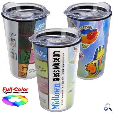 14 oz. Transparent Tumbler with full-color insert