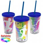 15 oz. Straw Tumbler w/ Full-Color Wrap Insert
