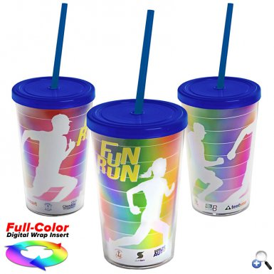 15 oz. Transparent Tumbler with full-color insert