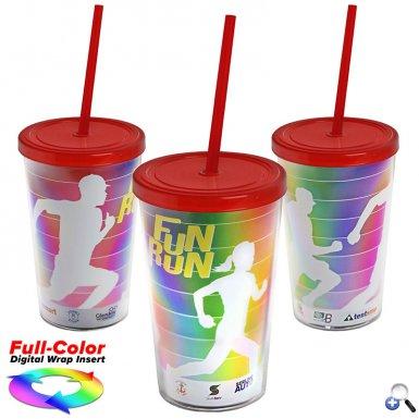 15 oz. Straw Tumbler w/ Full-Color Wrap Insert