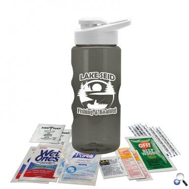 Tritan bottle Survival Kit with Drink Thru Lid