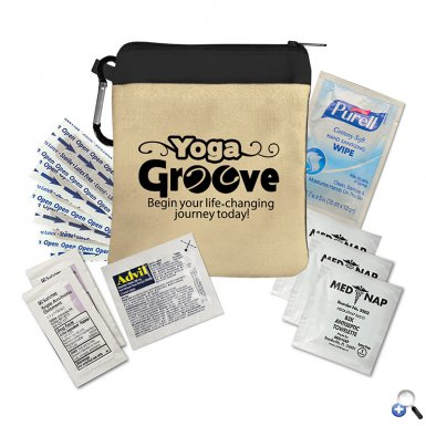 Outdoor Day Kit Canvas Zipper Tote Kit