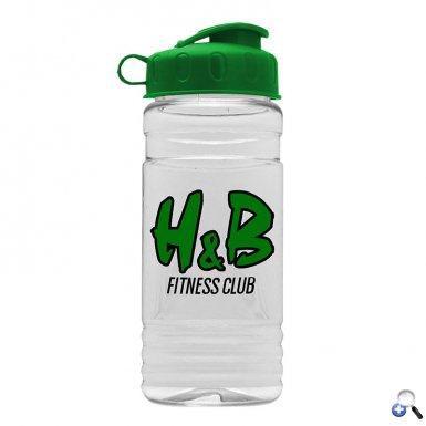 Big Grip 20 oz. Transparent Bottle - Flip Lid