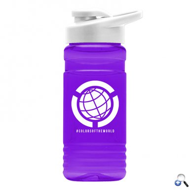 Big Grip 20 oz. Transparent Bottle -Drink-thru Lid