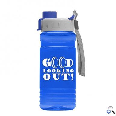 Big Grip 20 oz. Transparent Bottle - Snap Lid
