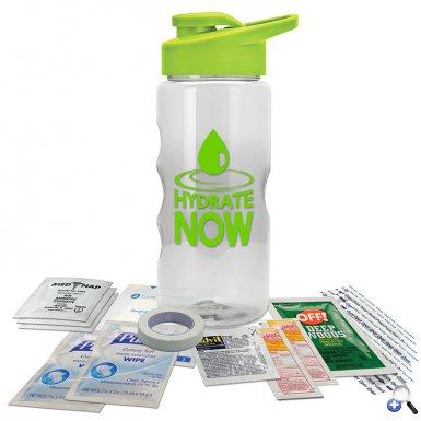 22 oz. Tritan  Bottle Survival Kit -Drink-thru Lid