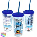 18 oz. Straw Tumbler w/ Full-Color Wrap Insert