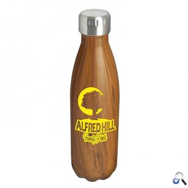 Kula - 17 oz. Woodtone Steel Bottle