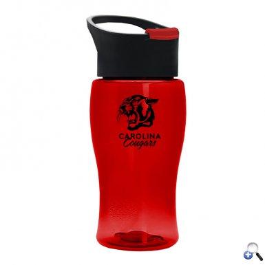 18 oz. Transparent Bottle with Pop-up Sip Lid