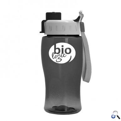 18 oz. Transparent Bottle with Quick Snap Lid