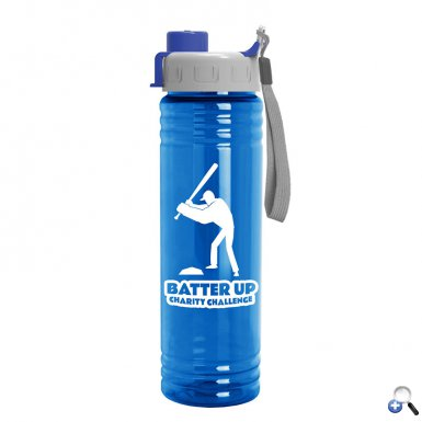 24 oz. Slim Fit Water Bottle with Quick Snap Lid